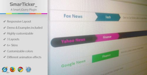 jQuery News Ticker Plugins