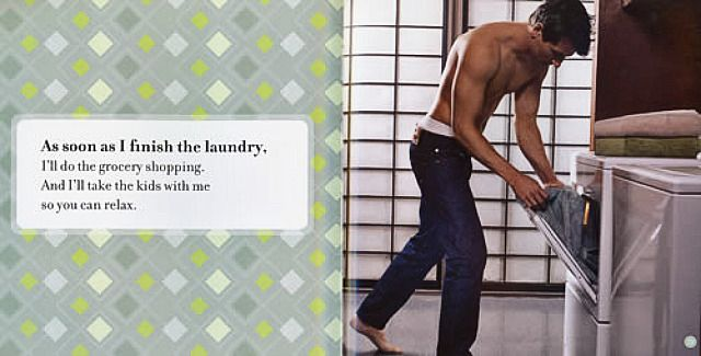 Men who do laundry clean up with women