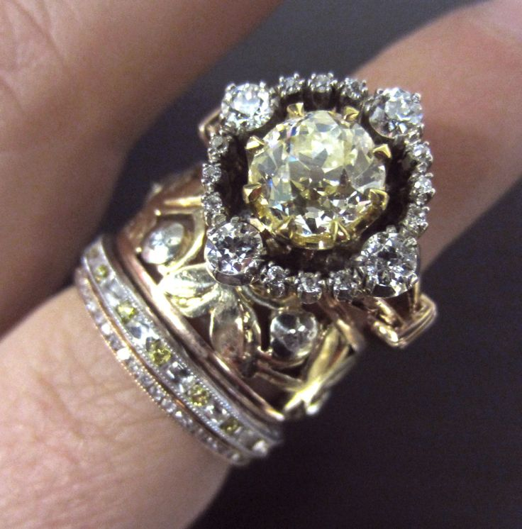 engagement georgian wedding vintage diamond rings ring antique cut cluster cushion beautiful