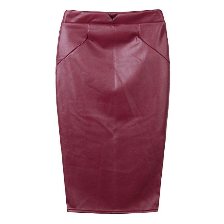 Zanzea Divat 2016 Nők Puha PU Bőr Szoknya, Magas Derék Karcsú Csípő Ceruza Szoknya Vintage Bodycon Midi Szoknya Szexi Clubwear Forró - Top termékek Kínából a legjobb árak, kedvezmények