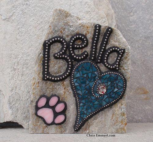 Mosaic Pet Memorial Stone