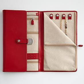 Jewelry Portfolio Organizer From Red Envelope What A Neat Idea This Could Be Made In Longer Length For Long Necklaces Make Book Pages With Tabs To
