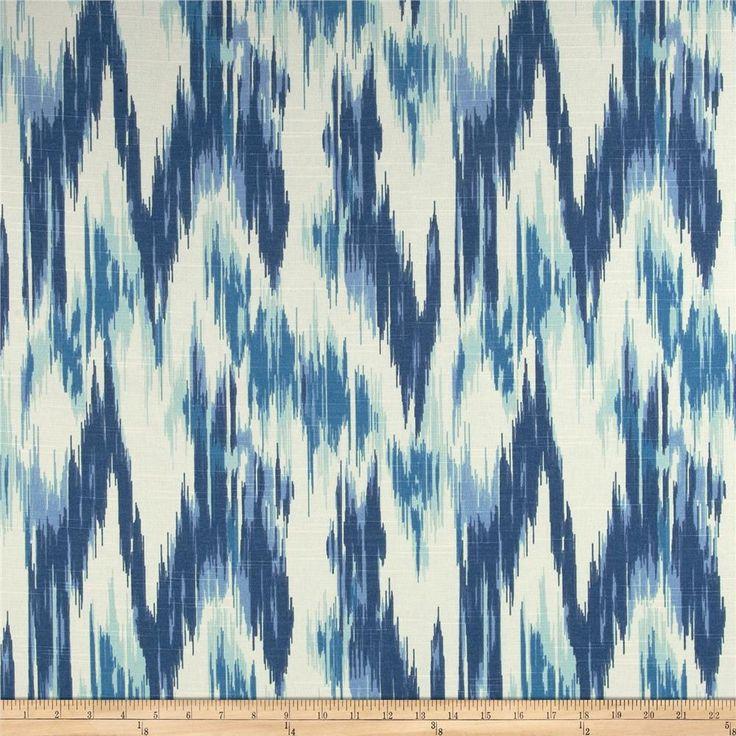 Home Accents Casbah Ikat Slub Baltic Blue