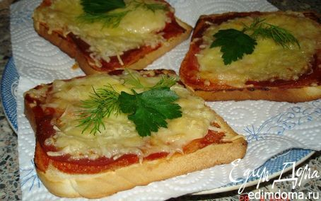 Рецепт – Горячие бутерброды с ветчиной,сыром и зеленью