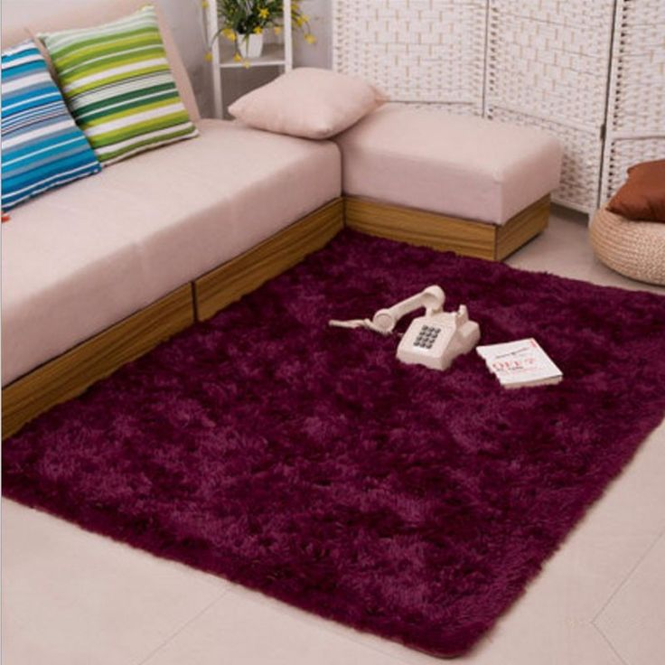 High Quality Bath Rugs Fluffy Rugs Anti Skid Shaggy Area Rug Dining Room Home Bedroom  Carpet Floor Mat Wine Red Part 20