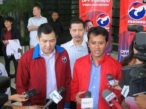 Konferensi pers bantuan Dpp Perindo kepada korban kebakaran di daerah Kayu putih pulo gadung — bersama Hary Tanoesoedibjo di MNC Tower.