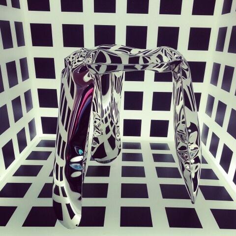 Plopp stool by Oskar Zieta (FIDU tech) - Milan 2013 preview hosted by wonderful, postindustrial Pracownia Elektoralna