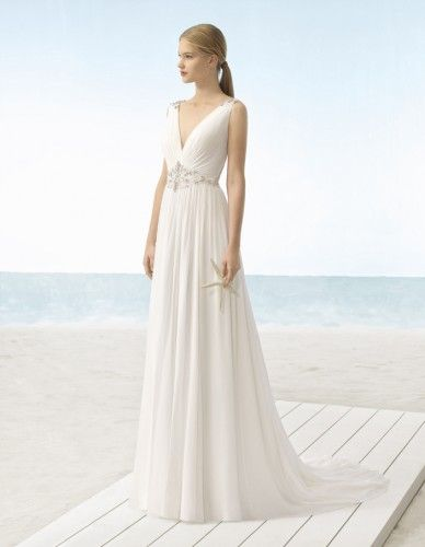 ROBE DE MARIÉE ULAN PAR AIRE BARCELONA COLLECTION BEACH WEDDING 2018