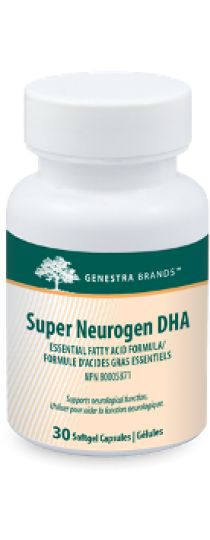 Super Neurogen DHA by Genestra is a unique source of docosahexaenoic acid (DHA) derived from algae, specifically formulated to support neurological function.