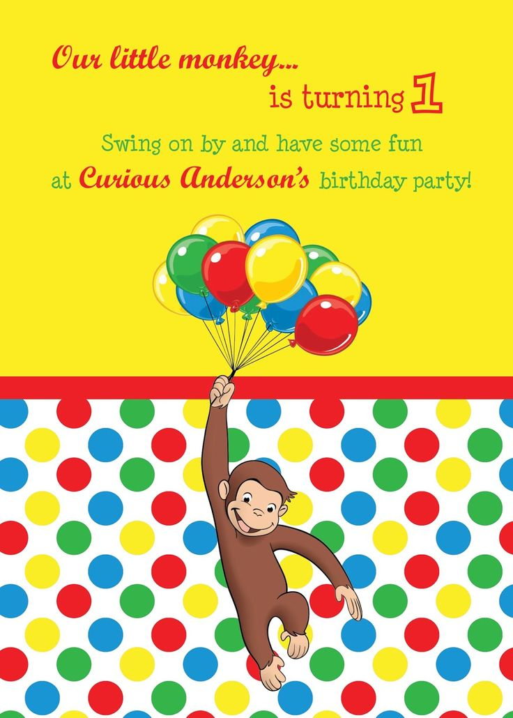 nice Unique Ideas For Curious George Birthday Invitations