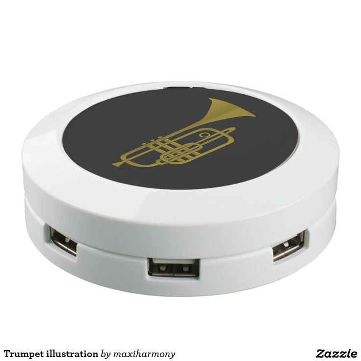 Trumpet illustration USB charging station