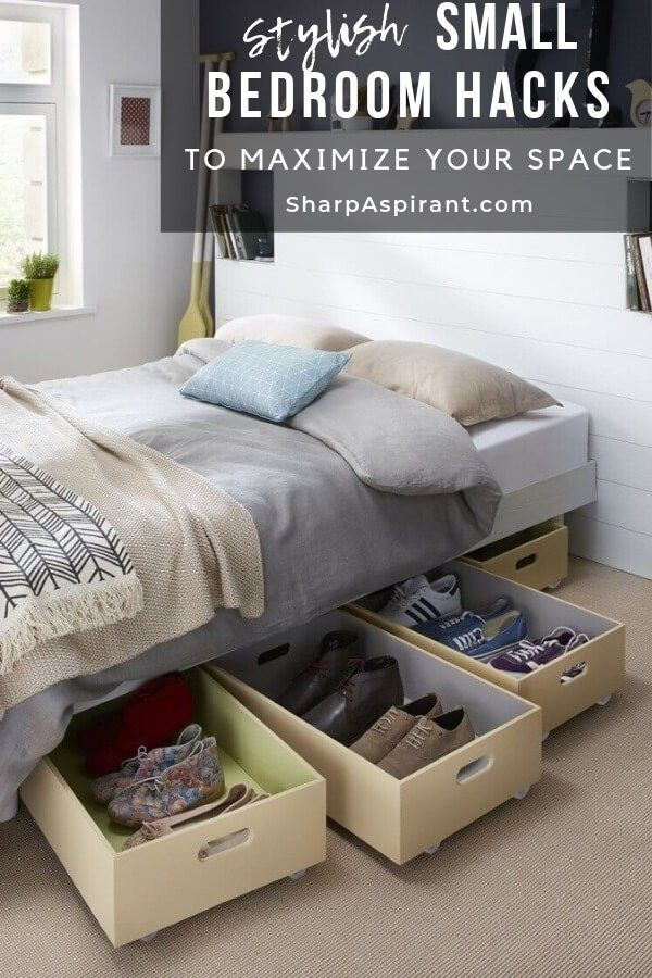 28 Small Bedroom Organization Ideas That Are Smart And Stylish