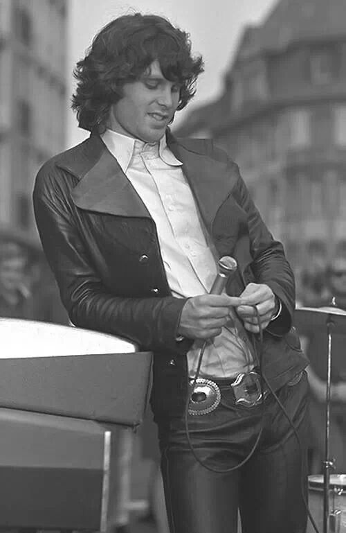 "Jim Morrison of The Doors. The Doors was band formed in the late 60's. The name came from Aidos Huxley's book: The Doors of Perception. This taken from a line in Blake's poem ""If the doors of perception were cleansed everything would appear to man as it is, infinite""."
