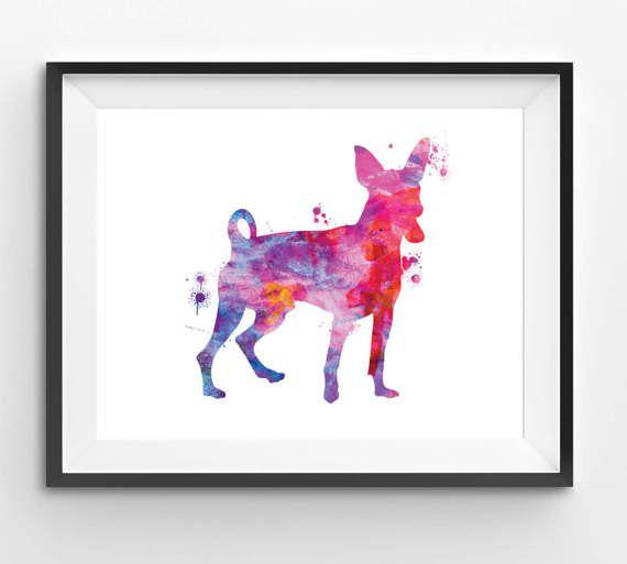 Colorful Miniature Pinscher Watercolor Print Dog Print Dog