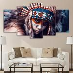 Native Indian Canvas Art, Native Indian Wall Art, Native woman Wall Art, Native Woman Canvas Art, Indian Native Girl Large Canvas Print
