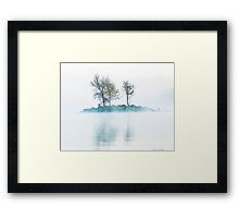 Framed Print. The image on this framed print was taken just as the sun was rising on a cold, foggy, winter morning just as the sun was rising, on Lake Burley Griffin in Canberra, Australia. Taken on a Nikon D750 DSLR.   Tags: island, fog, morning, trees, mist, winter, water, reflection, landscape, morning mist, outdoor, outdoors, peaceful, peace, tranquility, tranquil, serene, lake, branches, small, small island, tree, wild, plants, plant, cloud, scenery, scene.