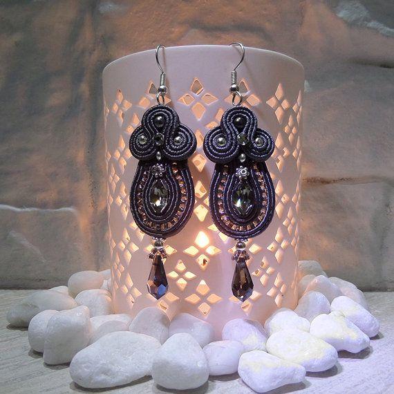 BLACK FRIDAY  Handmade Soutache earrings by HelenHandmadeDesign