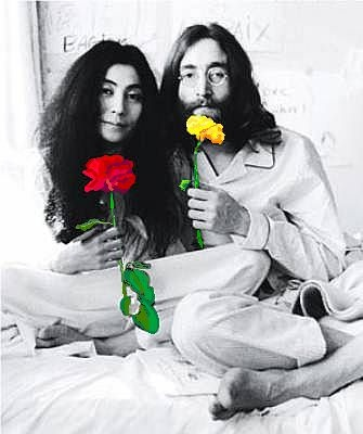 John and Yoko #selectivecolor  #colorsplash