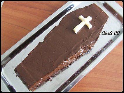 Gâteau cercueil d'halloween