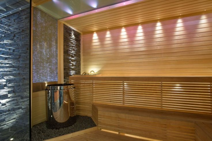 Bygga bastu inomhus i modern stil