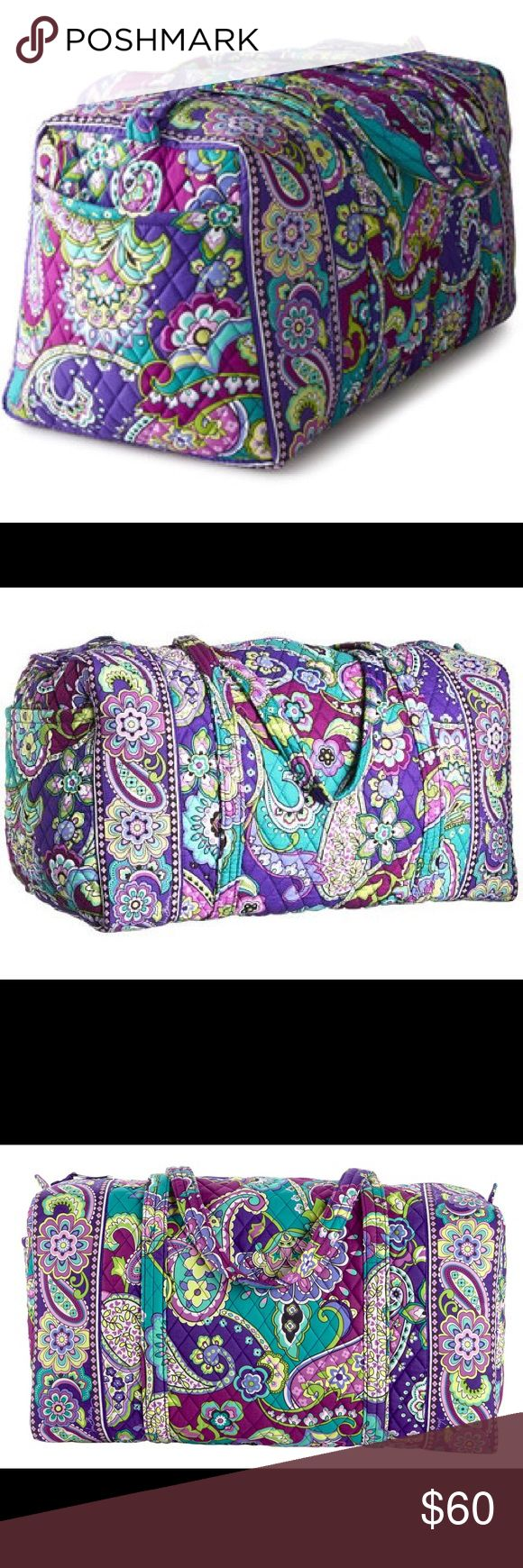 Vera Bradley Large Duffel in Heather This bag is lightly used. I got a new Kate Spade duffel, which is why I am selling this one.  The colors are fun and vibrant, and the bag is so easy to fold up and store. Offers welcome! Vera Bradley Bags Travel Bags