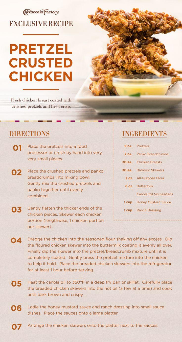 Pretzel Crusted Chicken. Crispy deliciousness!