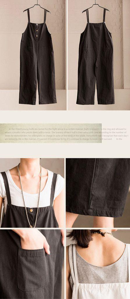 Summer Causel Cotton Linen Overalls Trousers Women Clothes