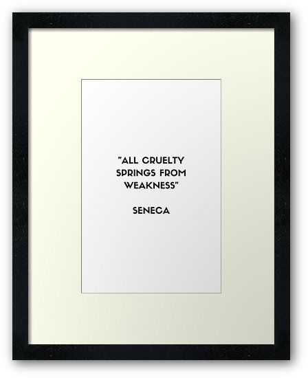 SENECA Stoic Philosophy Quote | Framed Art Print -…