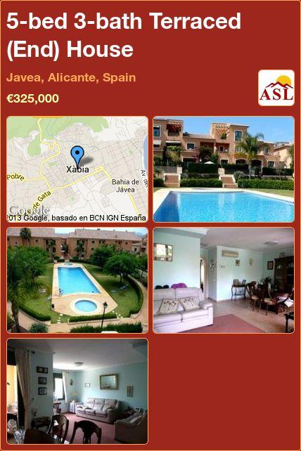5-bed 3-bath Terraced (End) House in Javea, Alicante, Spain ►€325,000 #PropertyForSaleInSpain