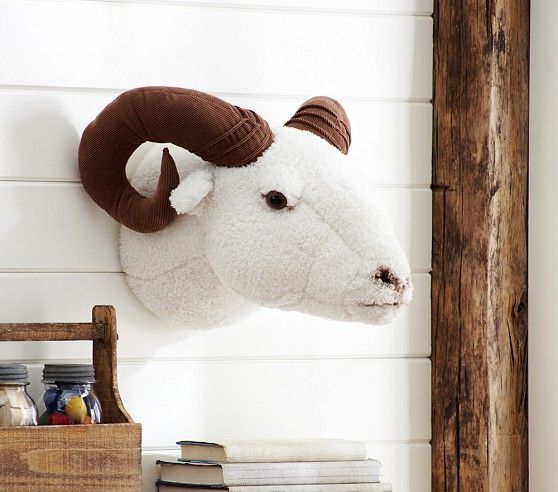 Stuffed Ram Head Pottery Barn Kids Stuffed Animal Taxidermy For Baby Nursery