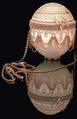 One of Mitzie Perdue's amazing ostrich egg purses