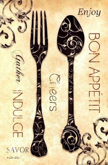 Tenedor y cuchara