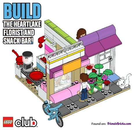Friends Bricks Heartlake Florist And Snack Bar Building