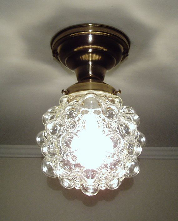 Vintage Mid Century Ceiling Light Fixture Kitchen Hall