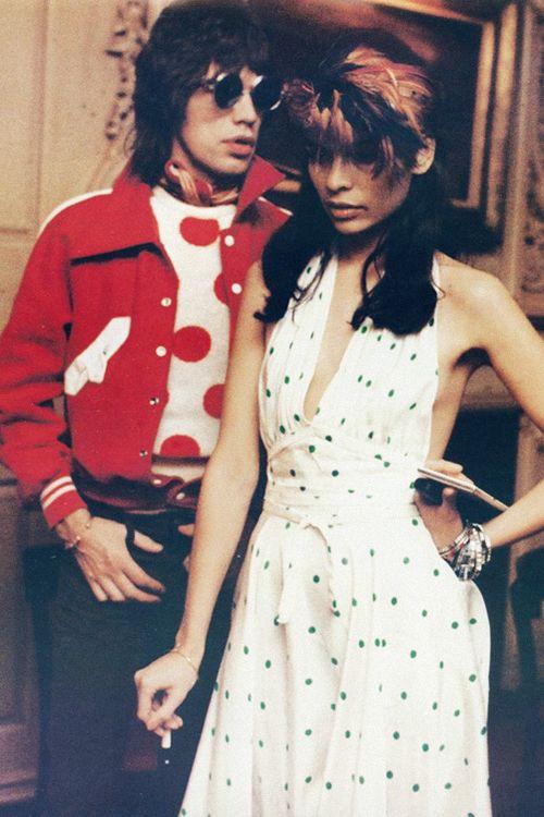 "missavagardner: "" ""Mick Jagger and wife Bianca Jagger, 1971."" """