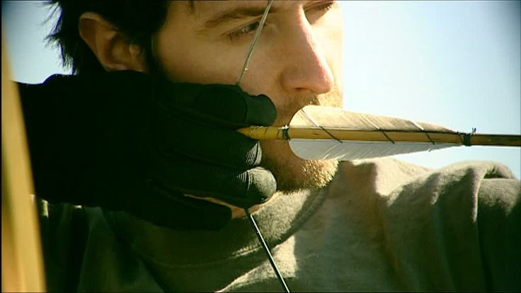 scruffy guys and archery- these are  my favorite things :)