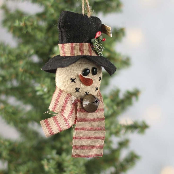 Primitive Snowman Ornament 2818 best Snowmen images