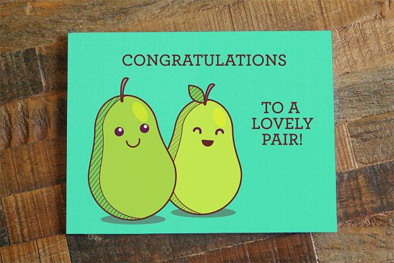 Funny Wedding Card  Congratulations To A Lovely Pair by TinyBeeCards