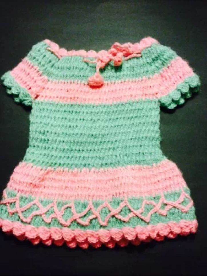 Knitting Patterns Baby Frocks : 1000+ images about Kids Toddler Baby Girl Handmade Hand Knitted Woolen Frock ...