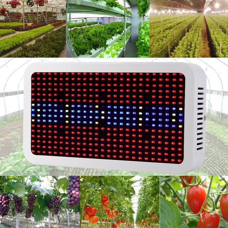 400 Светодиодов Растут Огни Полный Спектр 400 Вт Комнатное Растение Лампы Для Растений Овощами Гидропоника Система Grow/Цветение Цветение бесплатная Доставка