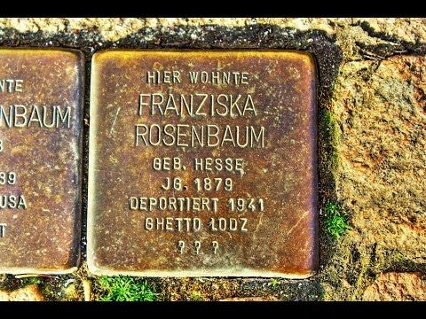 Franziska Rosenbaum • Marktstraße 37 • Stolperstein in Duderstadt