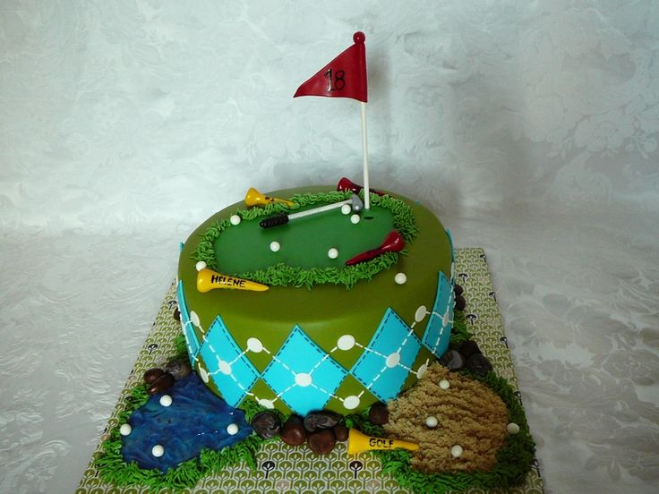 Green Cake Decorations Uk : The 25 best images about Golf Cakes on Pinterest ...