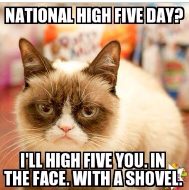 National High Five Day? I'll High Five You In The Face, With A Shovel