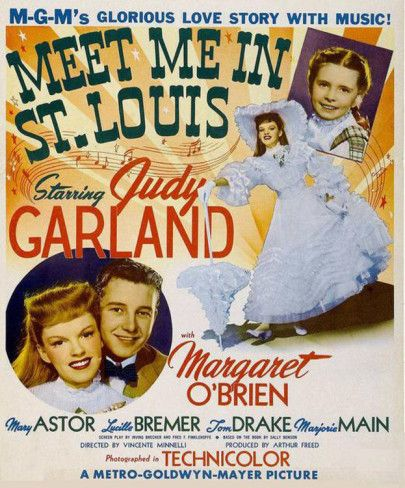 "Meet Me in St. Louis. ""Meet me in St. Louie, Louie, meet me at the fair!"" Love watching this movie at Christmas and hearing Judy Garland sing ""Have Yourself a Merry Little Christmas"""