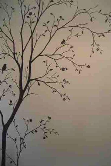Decoración de paredes con murales pintados a mano alzada. Madrid
