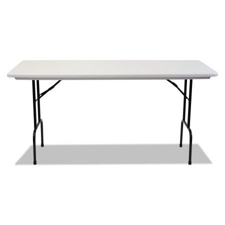 Alera Blow Molded Resin 36 inch Height Folding Table, 72w x 30d x 36h ...
