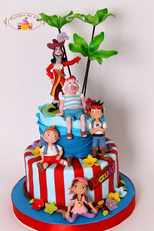 ... cakes for kids on Pinterest  Pirate birthday cake, Birthday cakes and