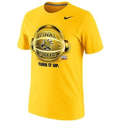 Nike Wichita State Shockers 2013 Men's Basketball Final Four Bound Glow Ball World T-Shirt - Gold  Price: $24.95