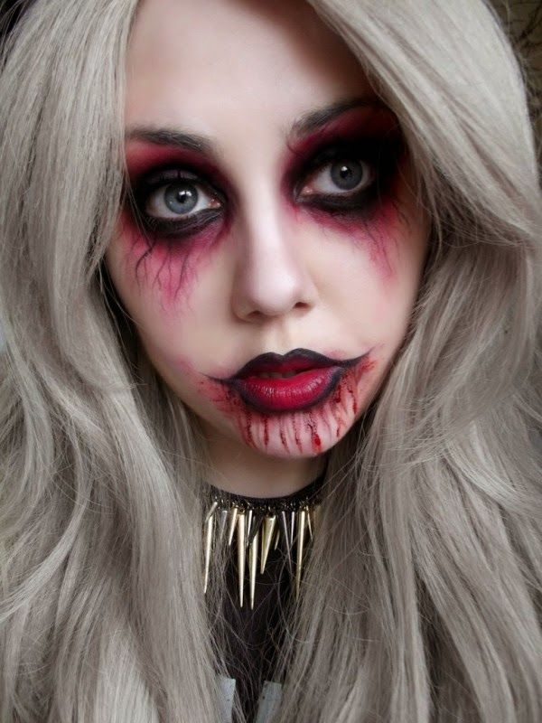 halloween scary face paints easy girl - Google Search