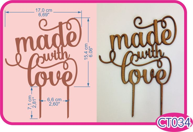"""""""Made with love"""" cake topper. -Pedidos/Inquiries to: crearcjs@gmail.com"""